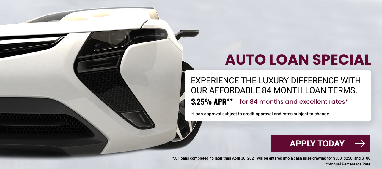 Auto Loan Special 325 for 24 months