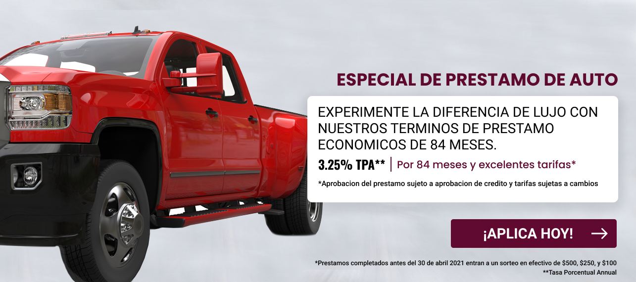 Auto Loan Special 3.25 for 24 months