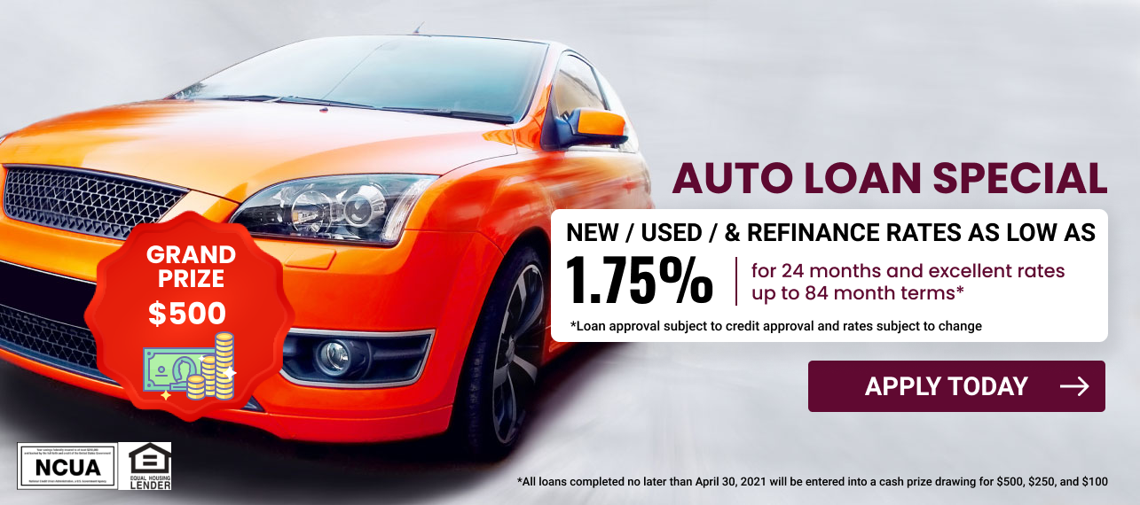 Auto Loan Special 1.75 for 24 months